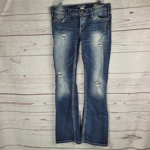 Silver Jeans Women's Pioneer Bootcut Distressed